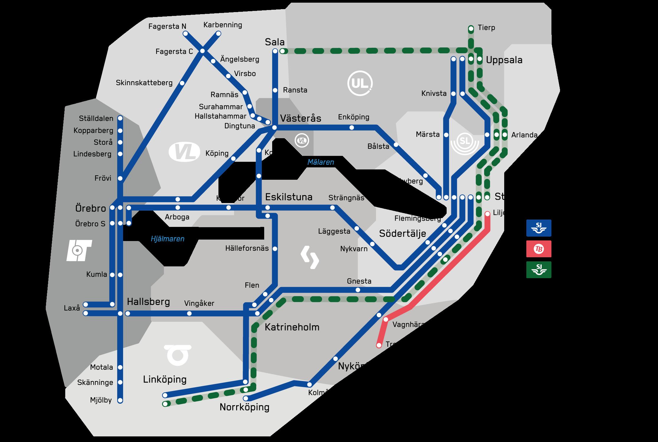 Movingo-kartan inkl. Tåg i Bergslagen (TiB)